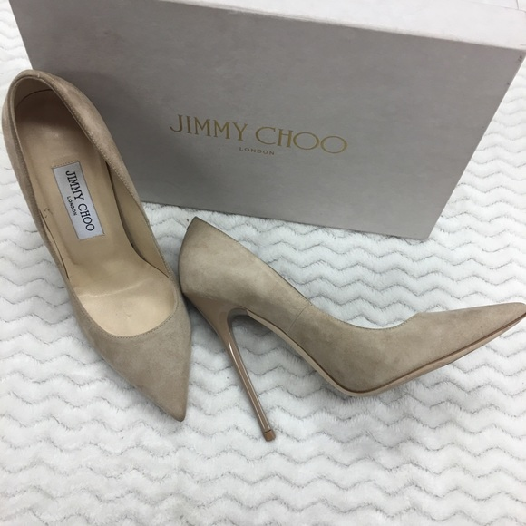 0116a50791a Jimmy Choo Shoes - Jimmy Choo Anouk Tan Suede Pumps Size 37 With Box